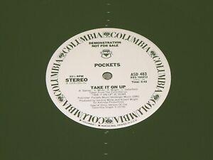 """POCKETS Take It On Up 1978 Columbia ASD 483 WLP Promo 12"""" Vinyl Disco Single NM"""
