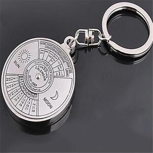 Ring-Perpetual-Calendar-Keychain-Symbol-Keyfob-Hot-Carving-Novel-Bag-Decor-LI
