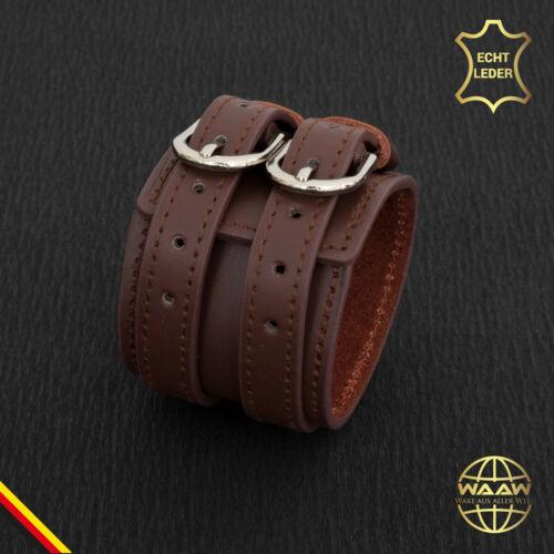 Breites Echt Leder Armband Schwarz Lederarmband Vintage Retro Punk Biker 8