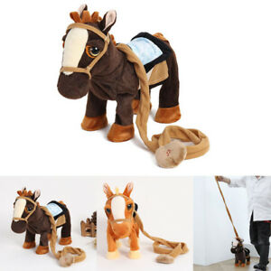Christmas Horse Cartoon.Details About Singing Walking Cartoon Horse Plush Electronic Horse Interactive Christmas Toy