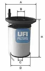 2605200 UFI Fuel Filter Diesel Replaces 77366216,77366607,673001463,818021,KX398
