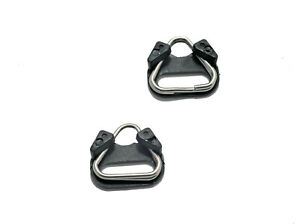 2-X-Langlebig-Dreieckige-Split-Ringe-Back-Protektoren-Kamera-Gurt-Befestigungen