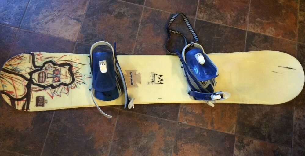 NICE USED USA  ANDY HETZEL LIMITED Snowboard  158cm W  BURTON BINDINGS SNOW BOARD  counter genuine