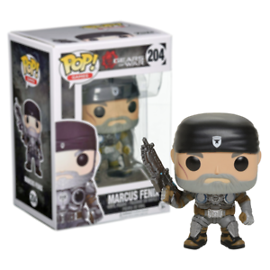 Details About New Gears Of War Marcus Fenix Old Man Pop Vinyl Figure 204 Funko Official