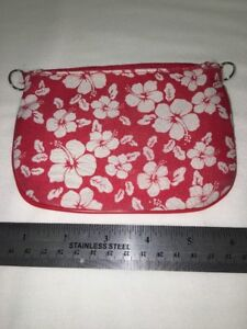 Red-Hawaiian-Hibiscus-Flower-Change-Purse-Makeup-Cosmetic-Bag-by-Tien-Hsing