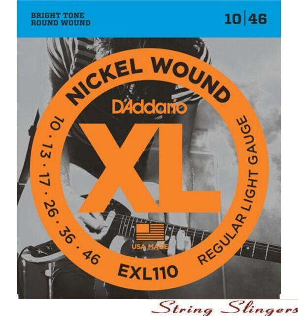 D'Addario EXL110 nickel Electric strings 10-46