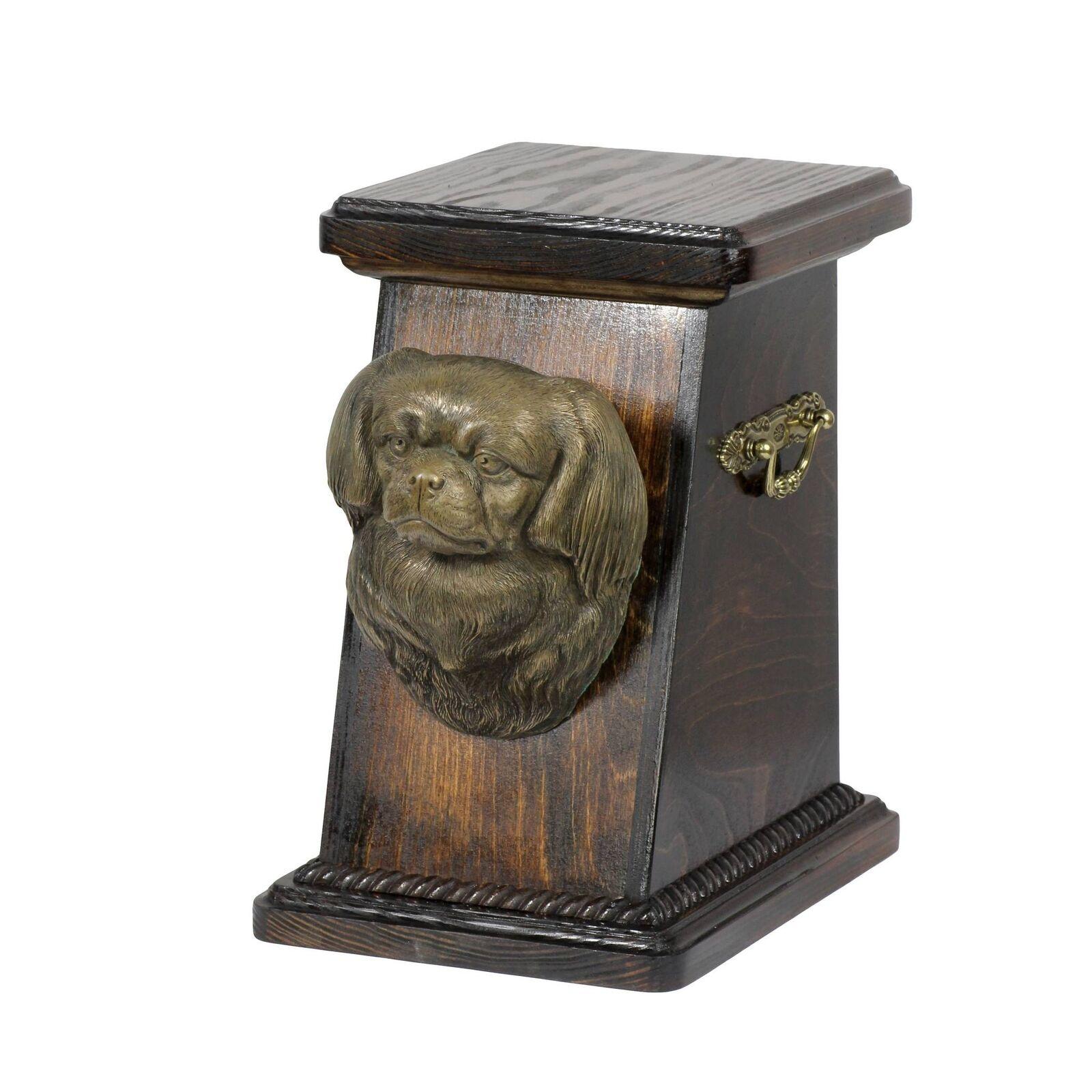 Tibetan Spaniel - urna di legno con l'immagine di un cane Art Dog IT Tipo 3