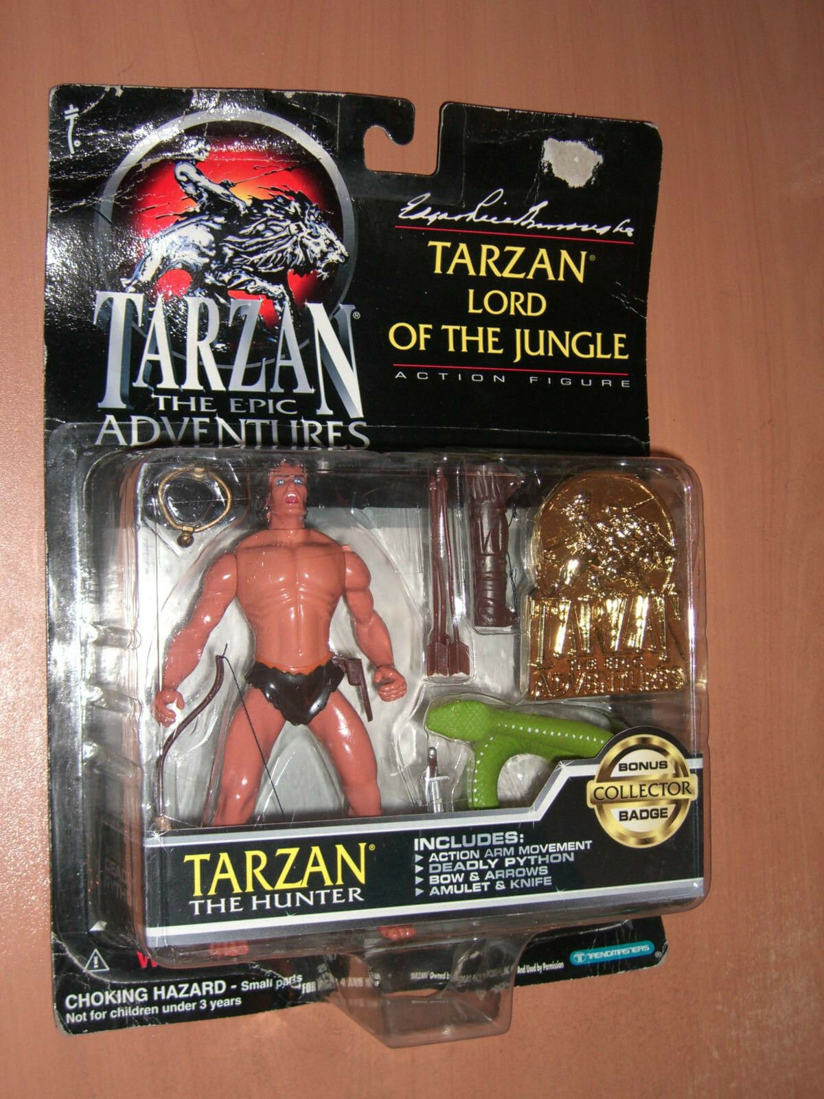 VINTAGE 1995 TARZAN LORD OF THE JUNGLE THE HUNTER FIGURE TRENDMASTERS MOC