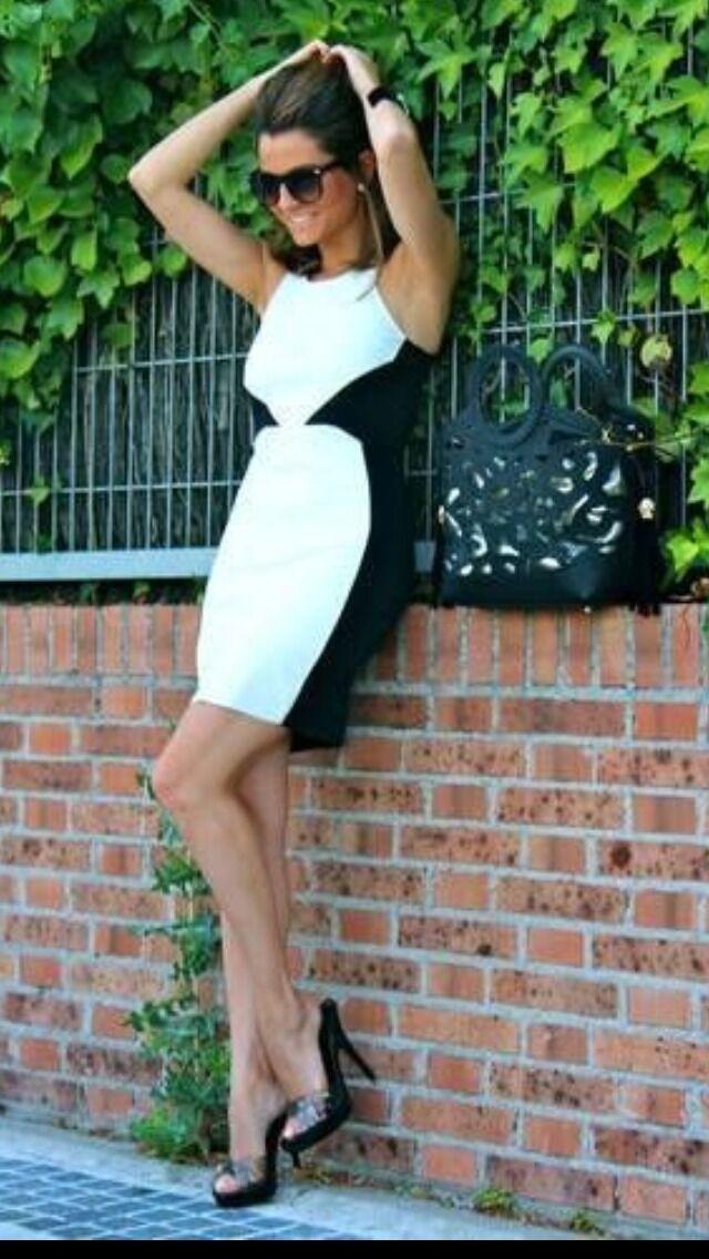 Zara Nero Bianco Bianco Bianco in Finta Pelle Combinazione Vestito Aderente Taglia Large RIF. 5644 050 a82b25