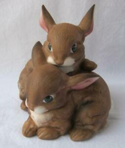 Goebel Porcelain Adorable TWO RABBITS Figurine Germany NEW IN BOX