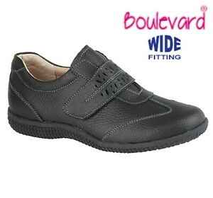 Ladies Leather Extra Wide EEE Fit Comfy