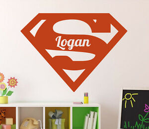 Image Is Loading Superman Wall Decal Custom Name Vinyl Sticker DC