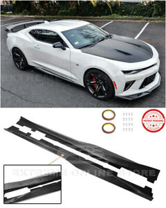 For 16-Up Camaro RS /& SSZL1 Style CARBON FIBER Side Skirts Rocker Panels Pair