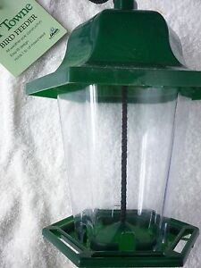 HEATH OL' TOWNE BIRD FEEDER GREEN 21227-NEW