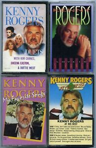 Lot-of-4-Kenny-Rogers-cassette-tapes-Country-Music-Kim-Carnes-Sheena-Easton