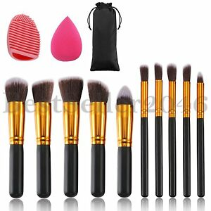10pcs-Makeup-Brushes-Set-with-Blender-Sponge-and-Brush-Egg-Cosmetics-Kit-Tool