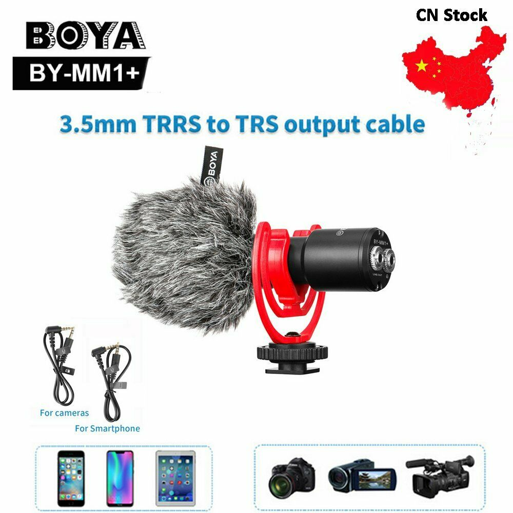 BOYA MM1+ Recording Microphone with Vlog Wireless Super Cardioid Condenser