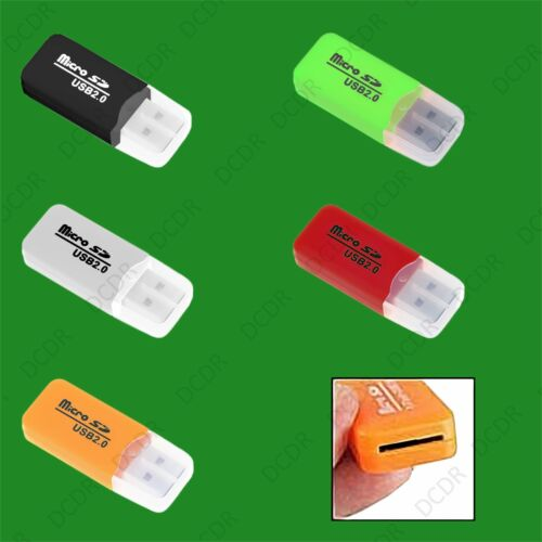 Microsd portátil USB 2.0 Lector de Tarjetas de Memoria Escritor Adaptador Windows PC Mac