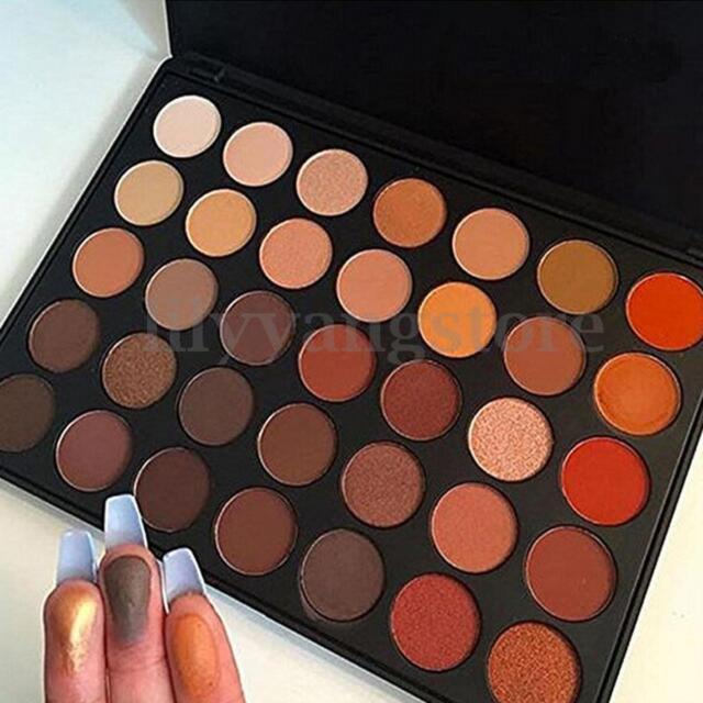 35 Colors Glam Warm Matte Pigment Eyeshadow Palette Makeup Eye Shadow Set Kit