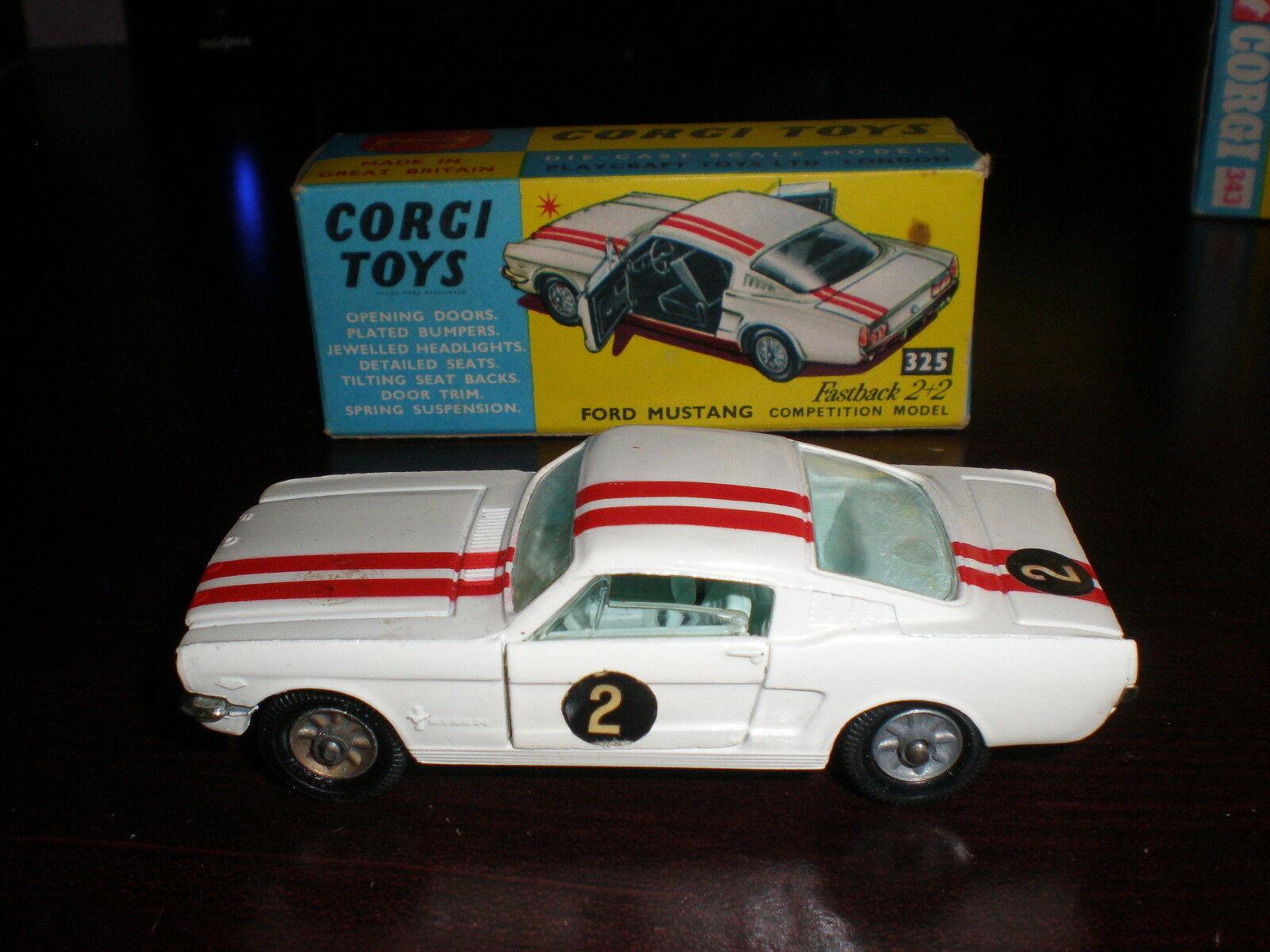 Corgi leksaker MUSTANG MED låda