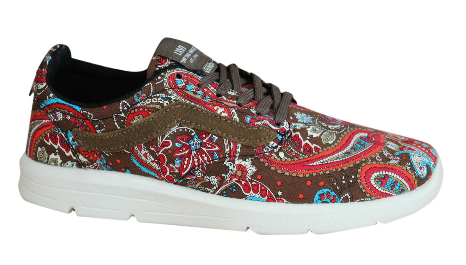 Vans Mens Iso 1.5 Paisley Olive Mens Vans Trainers Lace Up Shoes Textile XB8I2U D37 88498e