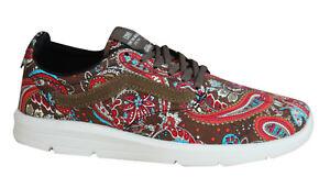 Iso Textile Paisley 1 5 Olive Vans Shoes Trainers Mens Lace Up 5Lc34RqSAj