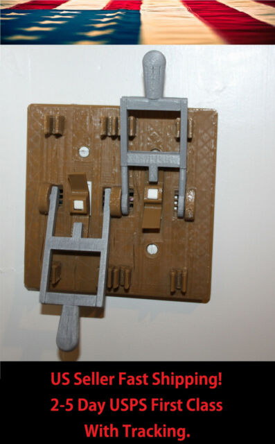 Halloween Dual - Frankenstein Knife Light Switch Plate Cover Flip Handle - Brown