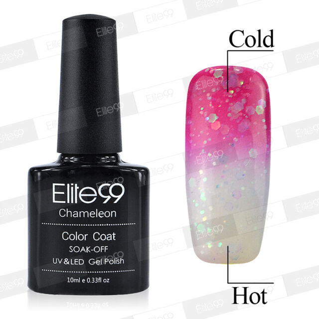 Temperature Changing Colour Soak Off Nail Art UV Gel Nail Polish Shiny Glitter