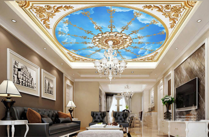 3D Blau Sky Frame 72 Ceiling Wall Paper Print Wall Indoor Wall Murals CA Carly