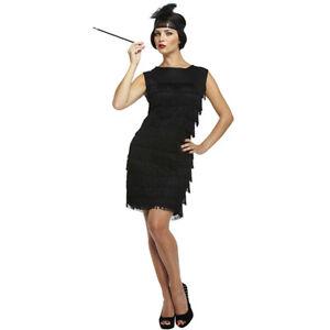 Para-Mujer-Damas-1920-s-Flapper-Charleston-Disfraz-Vestido-Gallina-Noche-Fancy-Dress
