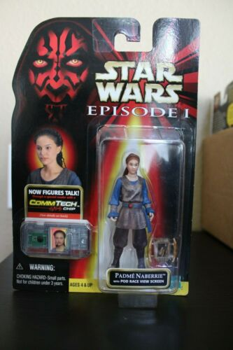 Brand New Star Wars Episode 1 Commtech Padme Naberrie with Pod Race View Screen