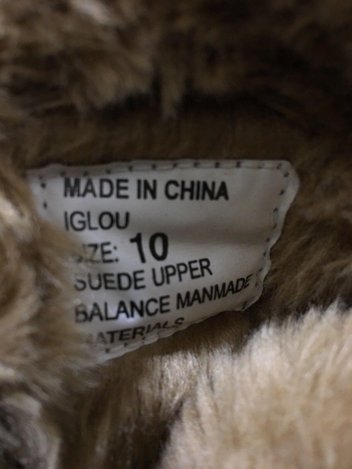 NEW Steve Madden Womens Womens Womens Tan Brown  Iglou Suede Faux fur Moccasin Boots Sz 10 d390e0