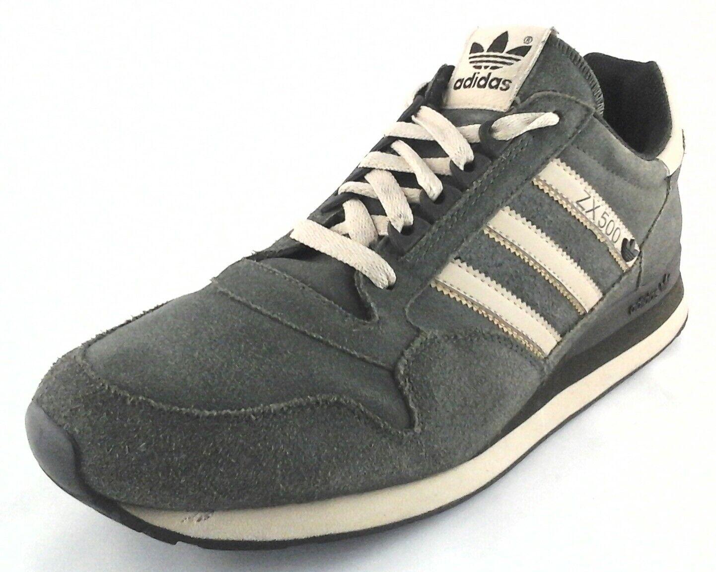 Adidas ZX 500 Trefoil Zapatos  para para para hombre estilo retro crema de salvia US 11.5 RU 11 UE 46 excelente condición usada poco común 6027bd
