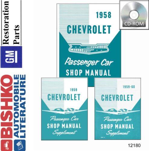 Shop Service Repair Manual CD Drivetrain No Corvette 1958 1959 1960 Chevrolet