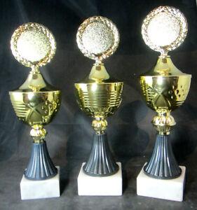 1x-3er-Serie-Pokale-Pokal-29-0-27-0cm-hoch-Gravur-u-Emblem-gold-anthrazit