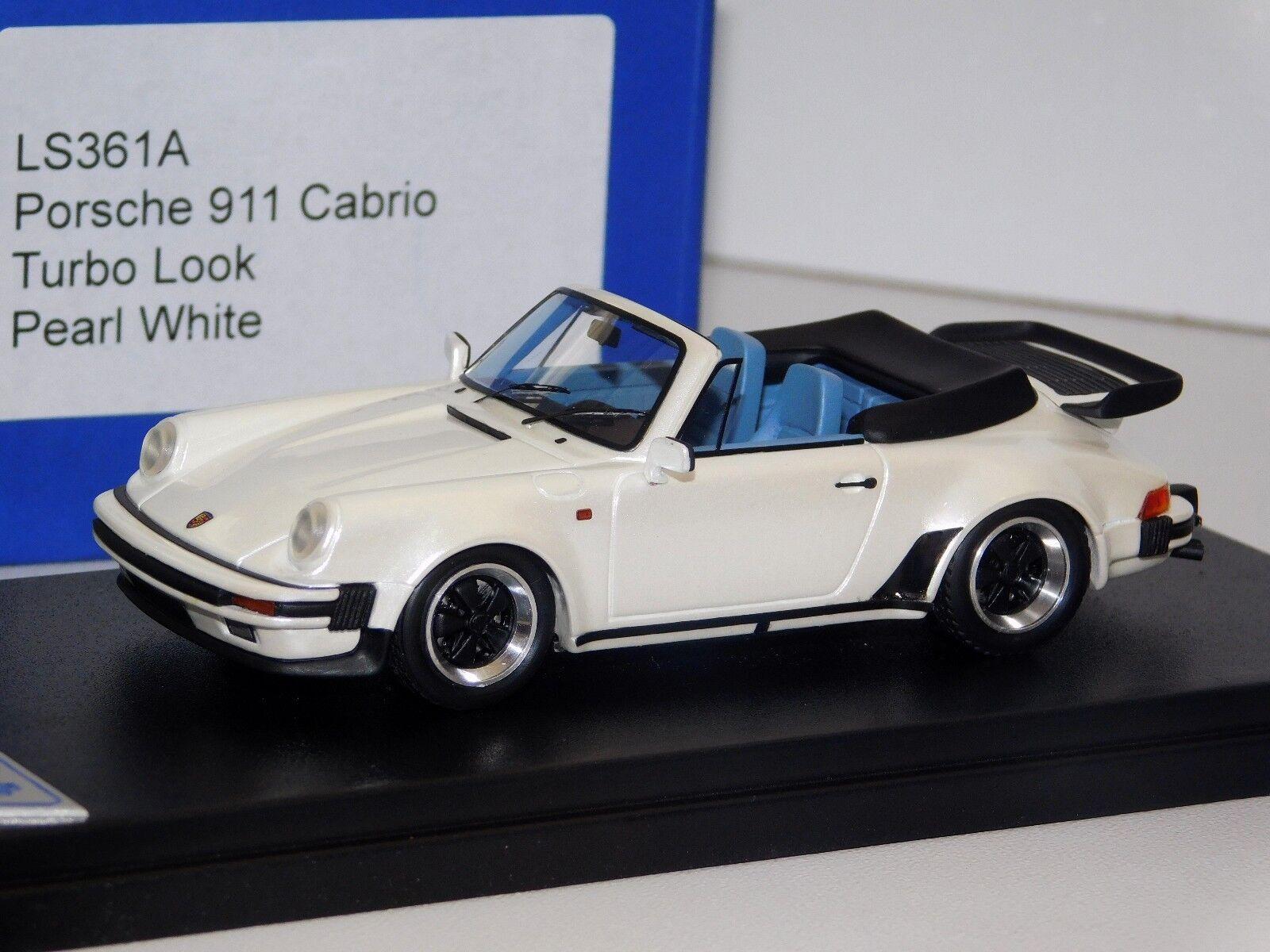 muchas sorpresas Porsche 911 Cabrio Turbo Look Pearl blanco LookSmart LS361A LS361A LS361A 1 43  marca