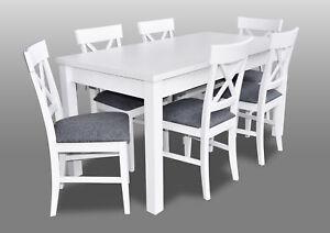 Detalles de Estilo Rústico Mueble Comedor Conjunto Juego Mesa + 6x Sillas  Silla Set