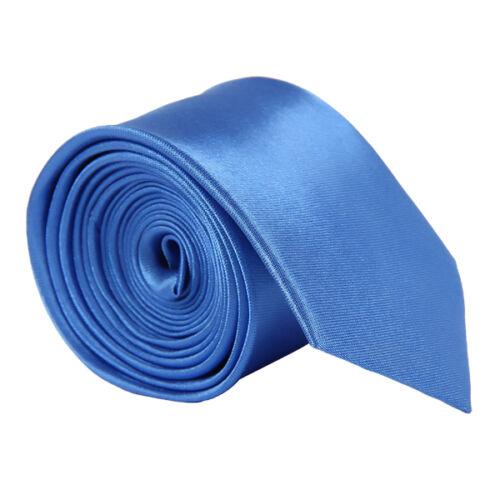 US New Classic Skinny Men Slim Tie Solid Color Plain Silk Jacquard Woven Necktie