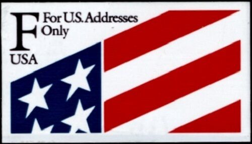 "1991 29c ""F"" Flag Stamp, ATM self-adhesive Scott 2522 M"