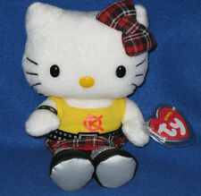 TY HELLO KITTY PUNK BEANIE BABY - MINT with MINT TAGS - UK CLINTONS EXCLUSIVE