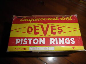 Set-for-4Pistons-NOS-Swedish-Deves-1212-1-040-3-Groove-Piston-Ring-MG-MGA-1500cc