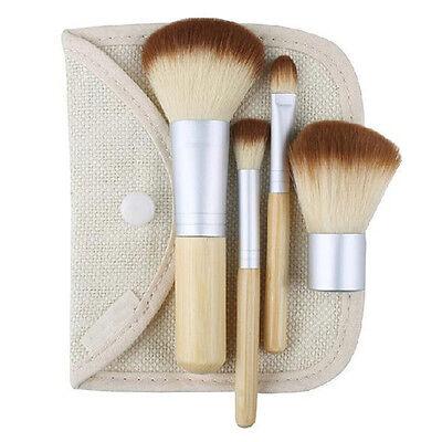 4X Latest Chic Pro Beauty Bamboo Makeup Cosmetic Tool Brush Make Up Brushes Set