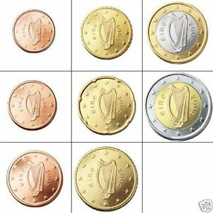 Image Is Loading Set Of Irish Euro Coins Genuine Currency Ireland