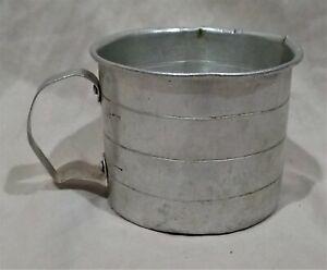 Vintage-Antique-Aluminum-Metal-Handheld-2-Cup-Measuring-Cup-Farmhouse-Country