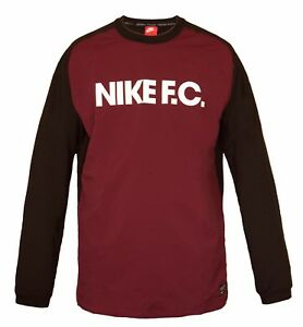 Details about NIKE FC Football Mens Sweatshirt Stretch Fit Training Top Long Sleeve BNWT