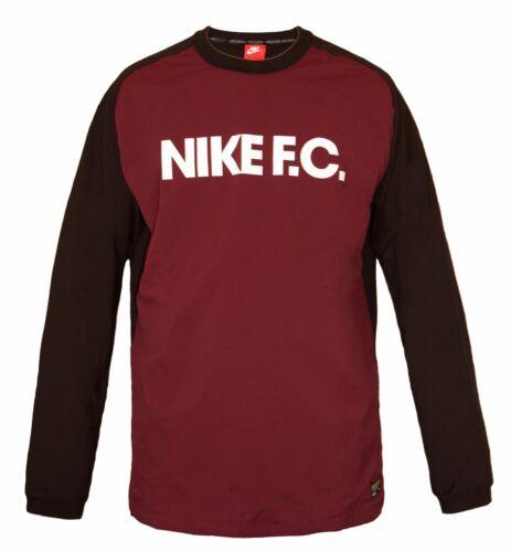 Fc uomo Felpa lunga calcio Fit da Training elasticizzata Bnwt manica Top da Nike Felpa wt6AIYCxWq