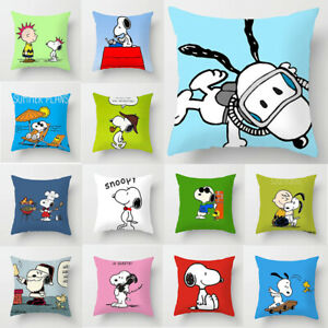 Home-Decor-Cute-Snoopy-Pillow-Case-Car-Bedroom-Sofa-Pillowcase-Cushion-Cover