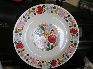 Image is loading KALOCSA-HAND-PAINTED-PORCELAIN-DECORATED-BEAUTIFUL-WALL- PLATE- & KALOCSA HAND PAINTED PORCELAIN DECORATED BEAUTIFUL WALL PLATE 9 1/4 ...