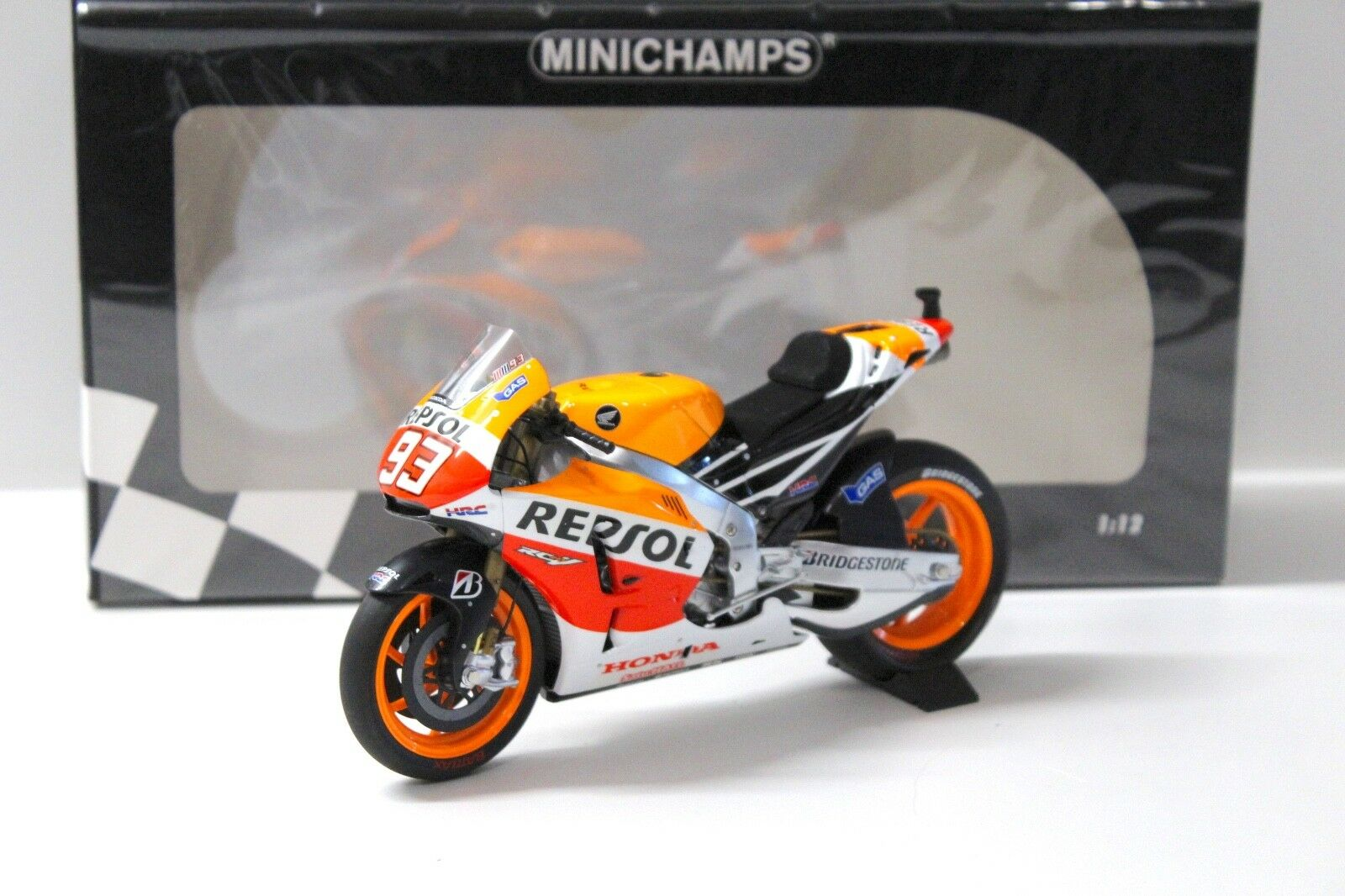 1:12 Minichamps Honda rc213v MotoGP World Champion Marquez New chez Premium-MODELCAR | Paquet Solide Et élégant