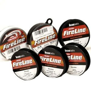Beadsmith-Fireline-Beading-Thread-4-6-8-lbs-crystal-smoke-50-yard-FREE-SHIP